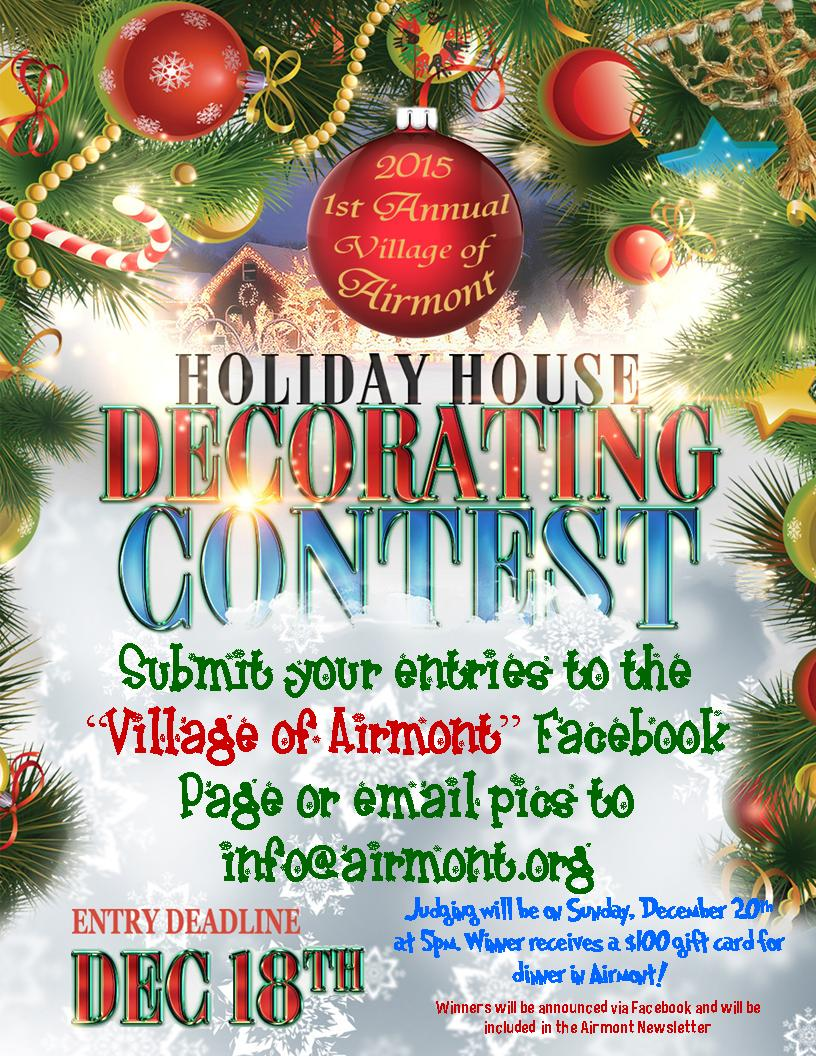 holiday decorating contest 2015 - Christmas Decorating Contest
